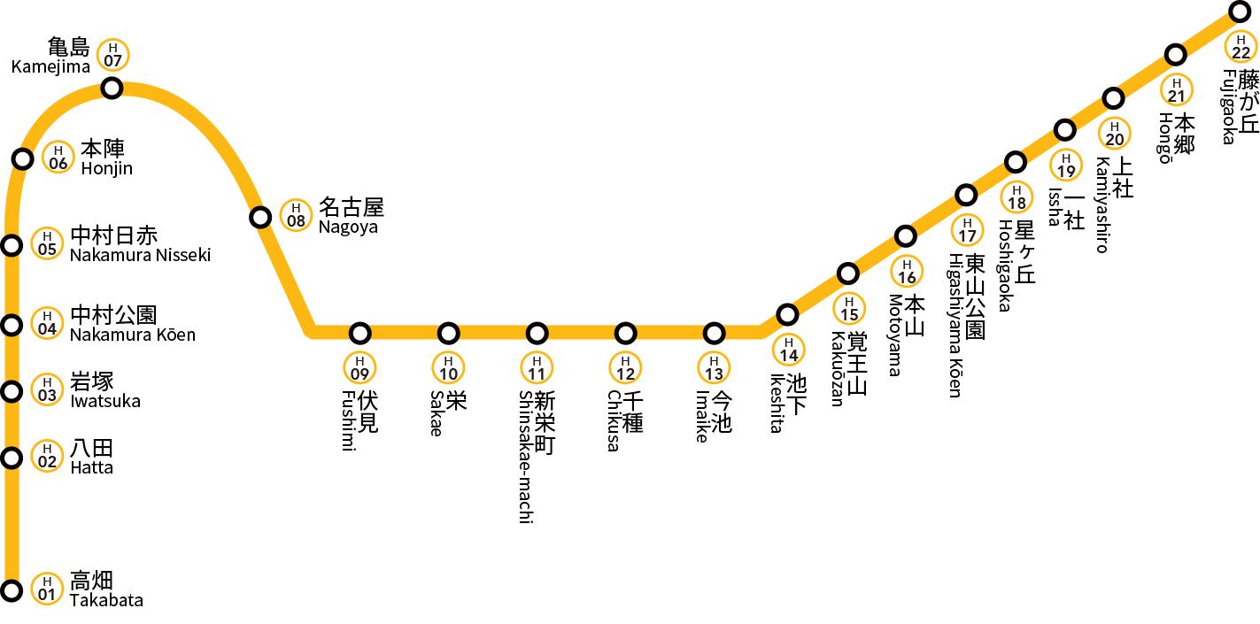 図 名古屋 地下鉄 路線
