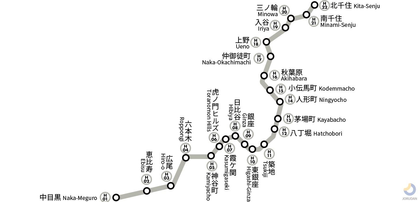 銀座 線 路線 図 東京メトロ日比谷線|路線図|ジョルダン