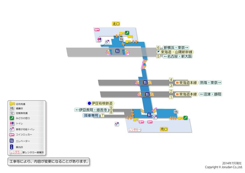 構内図 三島駅 駅の情報 ジョルダン